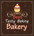 advertising bakeries and cake vector image vector image