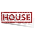 HOUSE outlined stamp vector image