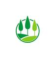 pine tree nature landscape logo vector image vector image