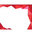 background trangle red vector image