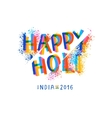 Happy Holi celebration creative flyer vector image vector image
