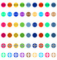 arrows in round different color vector image