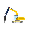 digger heavy vehicle transport graphic vector image