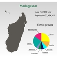 Infographic Elements for the Country of Madagascar vector image