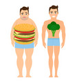 man on a diet vector image