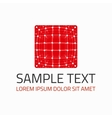 Red cube logo template vector image