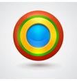 Empty bright colorful button vector image vector image