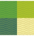 Set of abstract wavy seamless patterns vector image