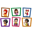 Children and frame vector image