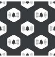Black hexagon ringing bell pattern vector image