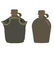 Military canteens vector image