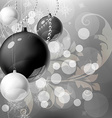 Christmas Background with Baubles vector image