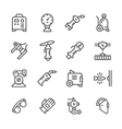 Set line icons of welding vector image