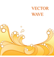 Abstract yellow wave vector image
