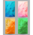 Backgrounds with abstract triangles vector image