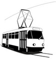 Classic Czech tramway vector image