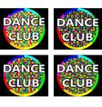 Dance club logo concept vector image