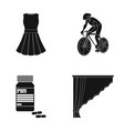 design sport textiles and other web icon in vector image