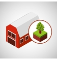 farm countryside isometric design vector image
