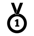 First place simple icon vector image