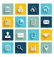 set of 16 flat business icons vector image
