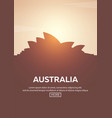 travel poster to australia landmarks silhouettes vector image