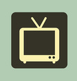 tv old design vector image