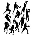 Basketball Sport Activity Silhouettes vector image