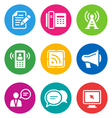 color communication icons vector image vector image