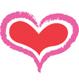 Double heart vector image vector image