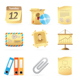 Icons for office vector image vector image