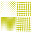 tile pattern set with polka dots and zig zag vector image