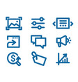 set of icons on internet marketing and interface vector image