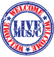 Live Music stamp vector image