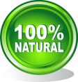 100 percent natural symbol vector image vector image
