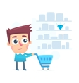 good choice of shopping in a store vector image vector image