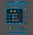 Interface buttons set for space games vector image vector image