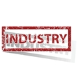 INDUSTRY outlined stamp vector image
