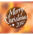 2014 Christmas and new year Themed frame vector image