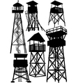 guard watch tower vector image vector image