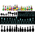 alcohol assortment vector image