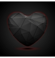 Black polygonal heart background vector image
