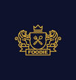 coat of arms foodie vector image
