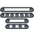 Conveyor Belt With Wheels Pack vector image