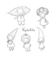 Cute cartoon vegetables vector image