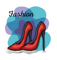 female fashion shoes icon vector image