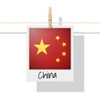 photo of china flag on white background vector image
