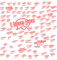 word i love you in different language vector image