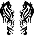 Graphic design Tribal tattoo wings vector image