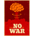no war red vector image vector image
